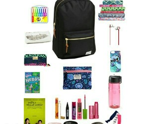 backpack, books, and school supplies image