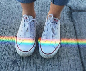 rainbow, converse, and tumblr image
