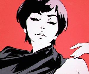anime girl, black, and body image