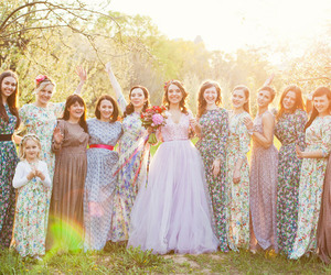 boho, bridesmaids, and dress image
