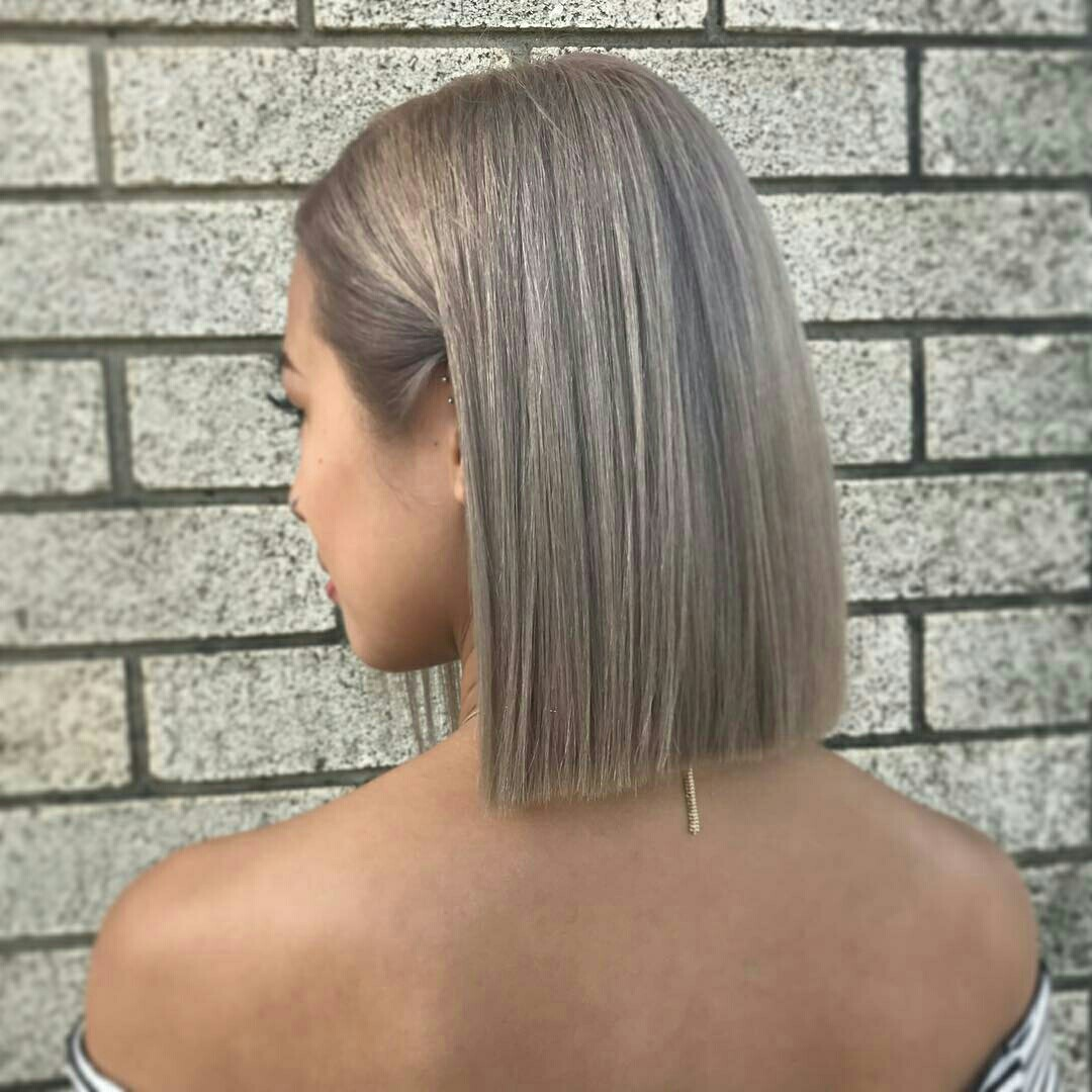 girl, short hair, and silver image