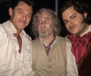 beauty and the beast, luke evans, and josh gad image