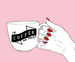 coffee, pink, and hands image