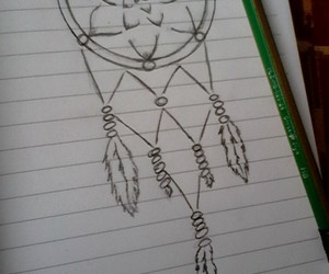 drawing, Dream, and dreamcatcher image