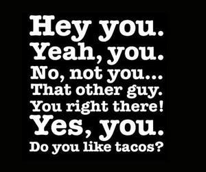 tacos, funny, and you image