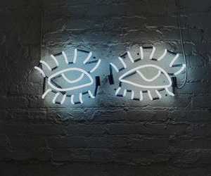 eyes, lamp, and light image