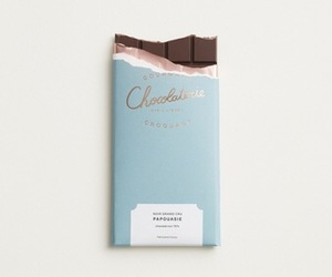 chocolate, blue, and aesthetic image
