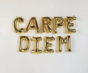 carpe diem, gold, and aesthetic image