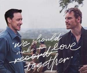 couple, james mcavoy, and michael fassbender image