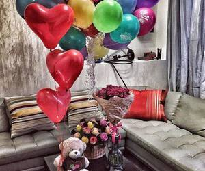 baloons, surprise, and colors image