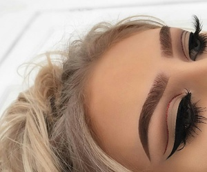 beautiful, blonde, and eyebrows image