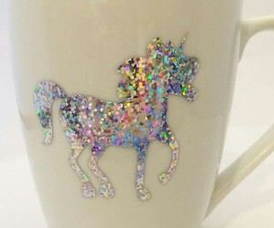 coffee, cup, and glitter image