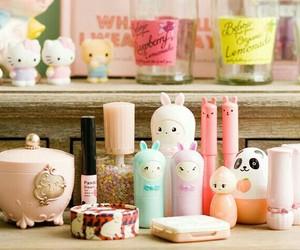 kawaii, pink, and cosmetics image