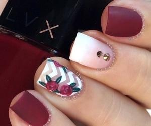 nails, nail art, and red image