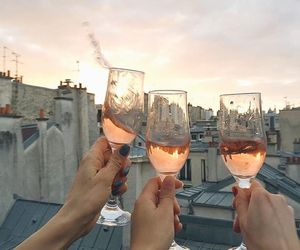 drink, friends, and wine image