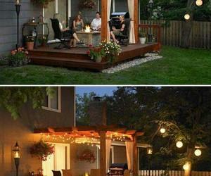 backyard, garden, and light image