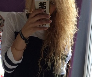 blond, curls, and festival image