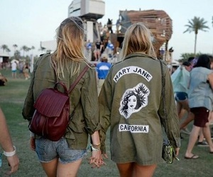 girls, coachella, and fashion image