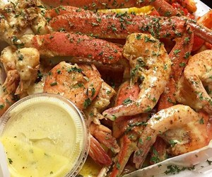 crabs, lobster, and seafood image