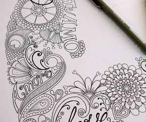 art, love, and doodle image
