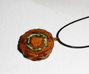 etsy, hippie jewelry, and pine cone necklace image