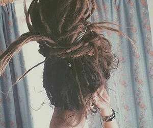 dreadlocks, dreads, and girl image