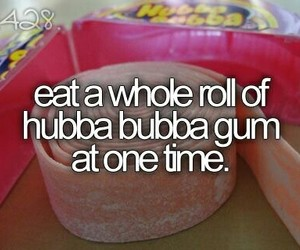gum, bucket list, and candy image