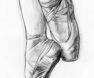 dance, drawing, and ballet image