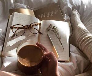 coffe, glasses, and learning image