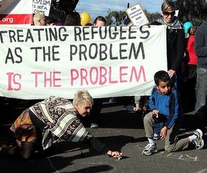 quote and refugees image
