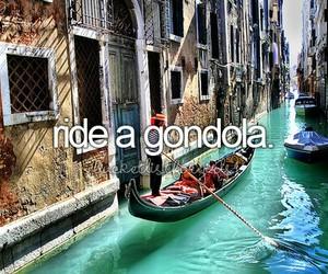 gondola, before i die, and bucket list image