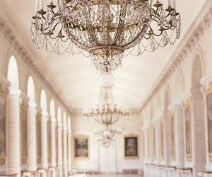 architecture, chandelier, and luxury image