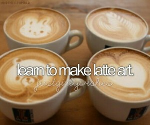 art, coffee, and latte image