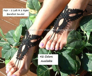 barefoot, dress, and foot jewelry image