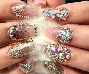 bling, glam, and nails image