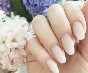look, nails, and rose image