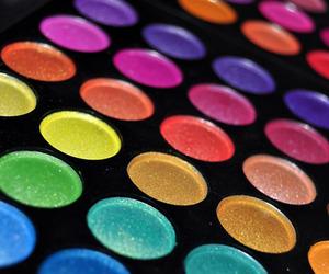 make up, makeup, and rainbow image