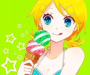 vocaloid, anime, and ice cream image