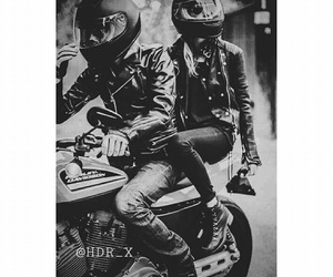 motorcycle, love, and black image