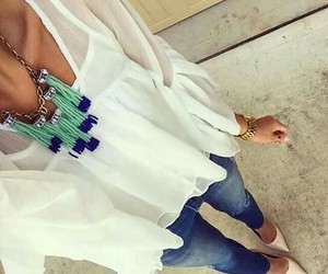 blusa, collar, and jeans image