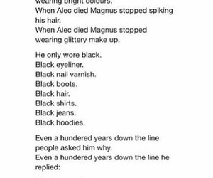 quotes, alec lightwood, and magnus bane image