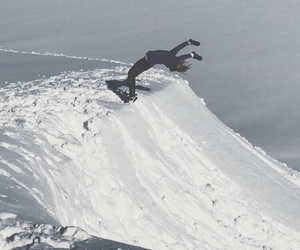 backflip, norway, and winter image