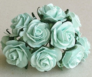 color, flowers, and mint green image