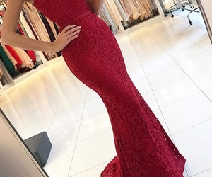red, dress, and Prom image