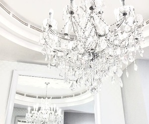 chandelier, crystal, and expensive image