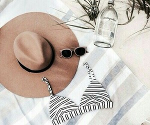 summer, fashion, and hat image