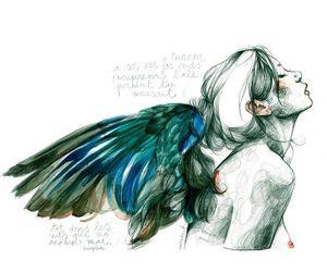 art, angel, and draw image