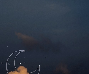 stars, background, and moon image