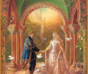 art, sleeping beauty, and fairytale image