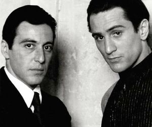 al pacino, robert de niro, and The Godfather image